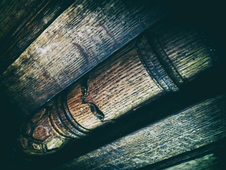 diagonal: Vintage diagonal wooden decoration