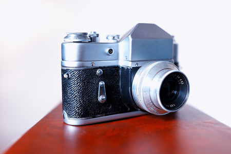 rangefinder: Vintage rangefinder camera background