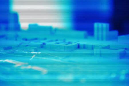 interlaced: Horizontal interlaced city abstract mockup illustration background