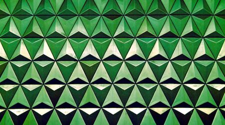 Horizontal green triangle cells with water drops illustration