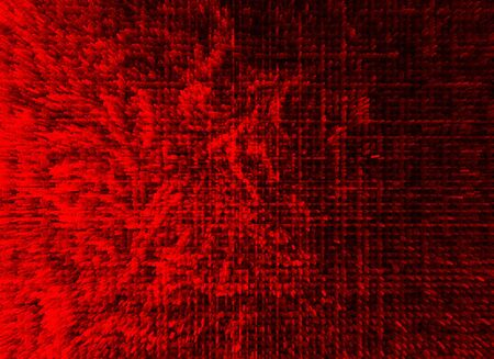 extruded: Horizontal red extruded illustration background