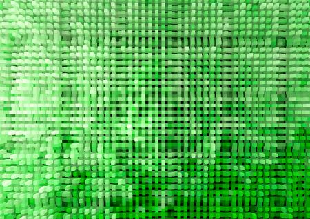 extruded: Horizontal green extruded cubes illustration background