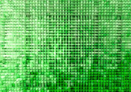 horizontal  green: Horizontal green extruded cubes illustration background