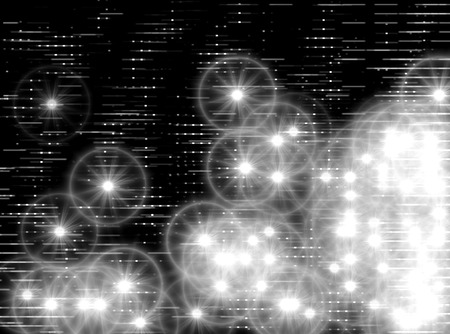 teleportation: Horizontal black and white space stars illustration Stock Photo