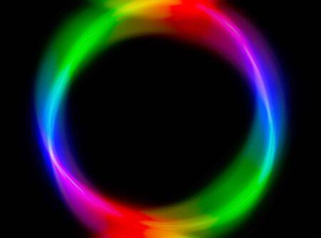 Horizontal rainbow sphere shape illustration