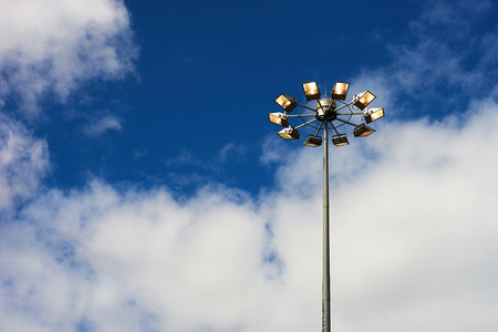 Horizontal right aligned street lamp background