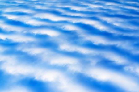 altitude: Horizontal high altitude cloudscape background Stock Photo