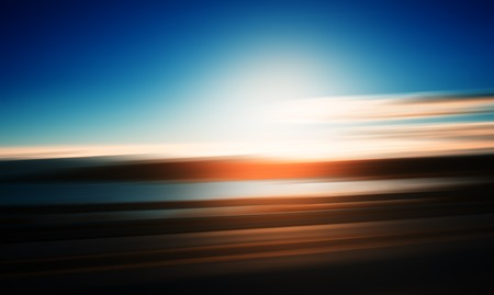 slow lane: Highway motion sunset abstraction