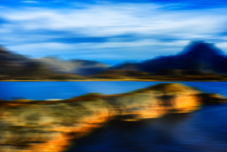 the gulf: Norway gulf fjord horizontal landscape abstraction