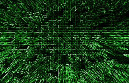business communication: Horizontal green communication business abstraction background