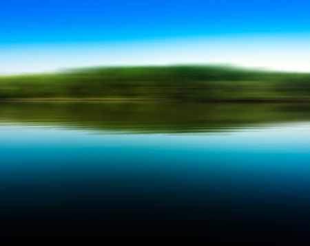 Square lake in motion reflections vivid abstraction