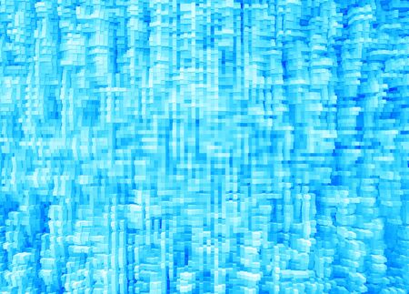 extruded: Horizontal cyan blue 3d extruded digital cubes abstraction background