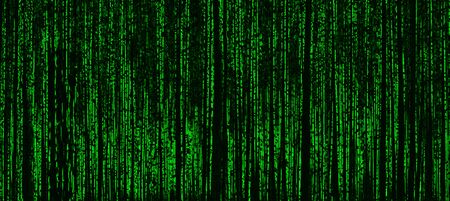 cyberpunk: Horizontal vivid matrix neo cyberpunk hacker terminal abstraction background backdrop Stock Photo