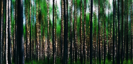 Horizontal vivid forest wood abstraction background backdrop