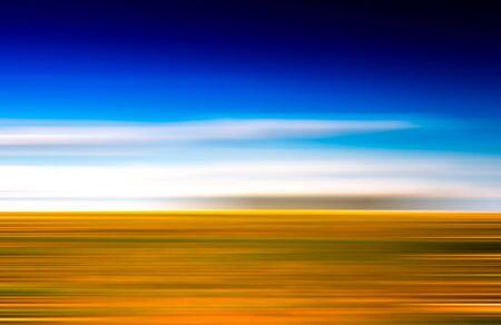 Horizontal vivid abstract motion blur landscape backdrop