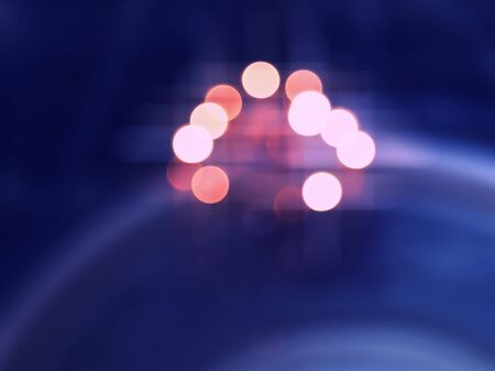 Vivid vibrant cross processed bokeh composition abstraction Stock Photo