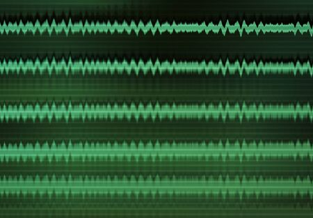 Horizontal green console display computer pulse interlaced design element background backdrop