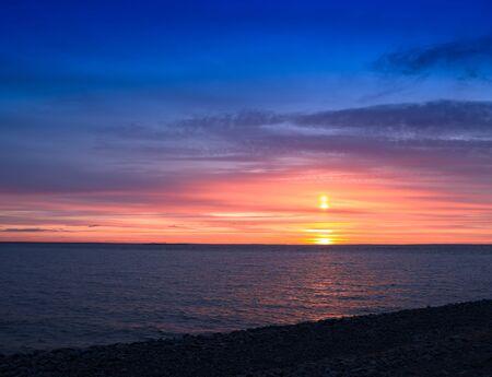 medium: Baltic sunset