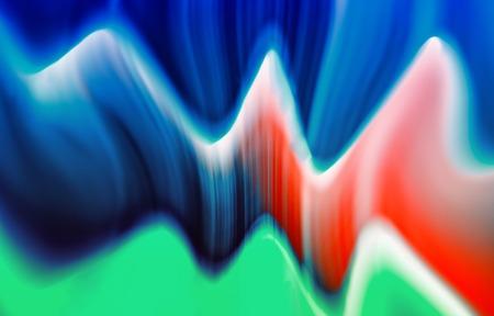 presentaion: Horizontal colorful vivid digital wave abstraction