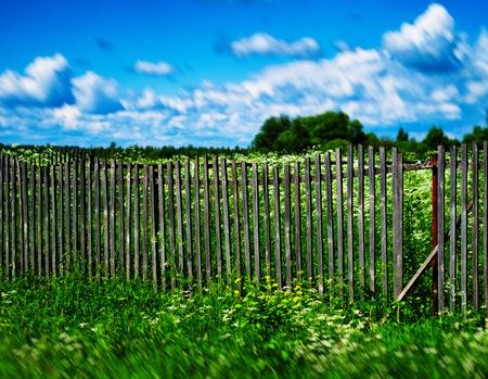 Summer broken fence