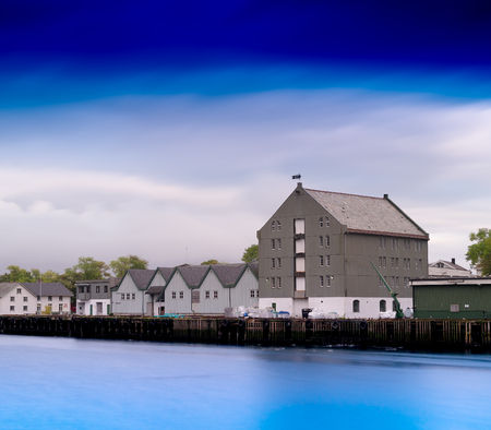 townscape: Horizontal Norway port townscape background