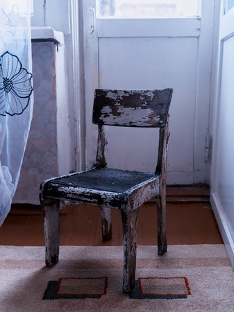 the ussr: Vertical vintage Ussr old antique chair object background backdrop