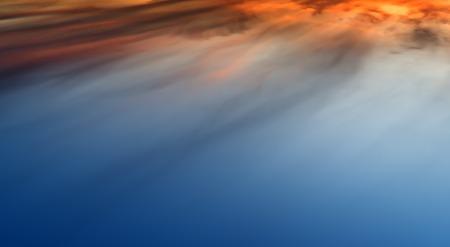 altitude: Horizontal vivid sunset altitude cloudscape background backdrop Stock Photo