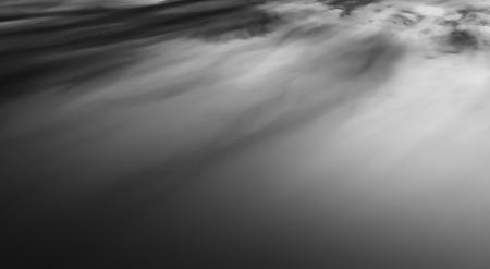 altitude: Horizontal black and white sunset altitude cloudscape background backdrop Stock Photo