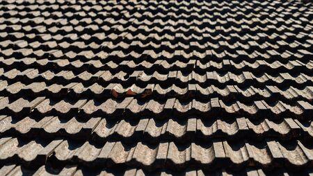 tiling background: Vintage roof tiling background