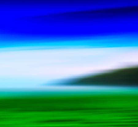 Horizontal vivid abstract motion blur fresh landscape background backdrop