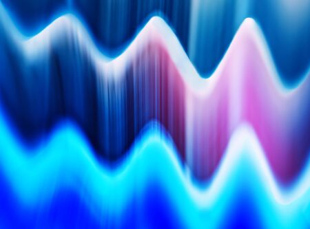 presentaion: Horizontal pink blue digital wave abstraction background Stock Photo