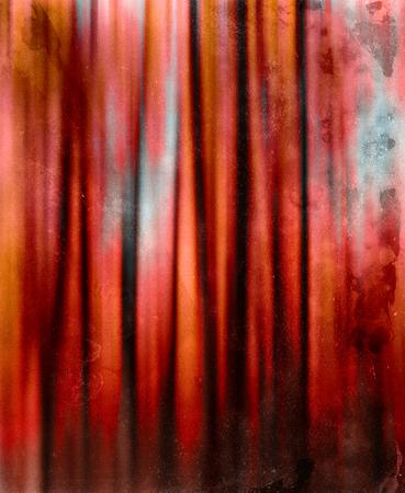 cortinas rojas: Dr�cula cortinas rojas de la vendimia