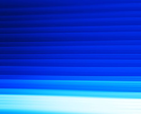 Horizontal vivid blue motion blur panels abstraction background Stock Photo
