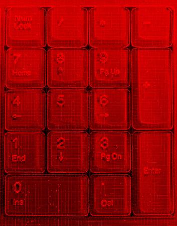 terminator: Vertical red matrix keypad abstraction backdrop