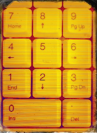 teclado numerico: Vertical matriz amarilla abstracción de fondo del teclado Foto de archivo