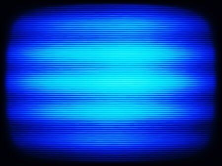 oscillograph: Horizontal vintage blue interlaced tv screen abstraction background