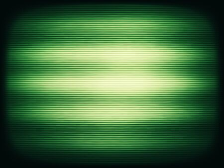 Horizontal vintage green interlaced tv screen abstraction background