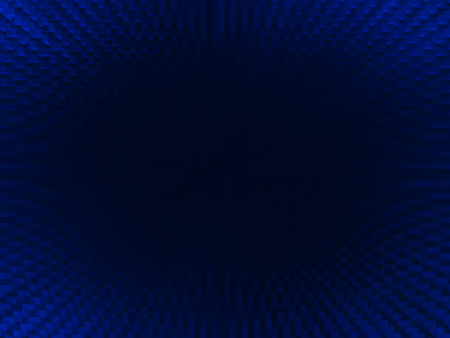 extruded: Horizontal vivid blue blackhole 3d extruded cubes abstraction