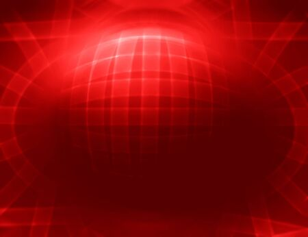 Horizontal red 3d sphere abstract illustration background