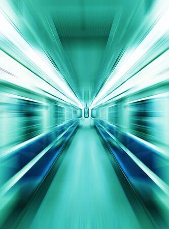 In metro ????? motion blur background