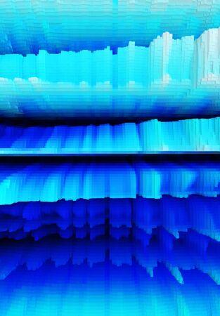 extruded: Vertical 3d extruded iceberg illustration background