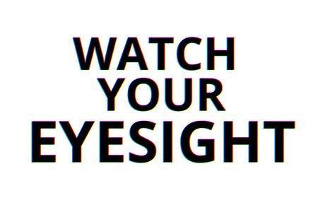 poor eyesight: Watch your eyesight chromatic aberration illustration background