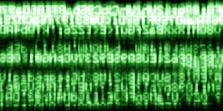 horizontal  green: Horizontal green matrix information data abstraction background