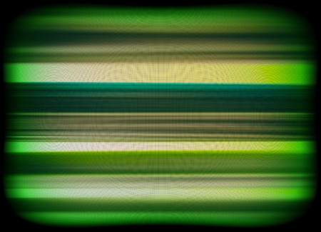 static: Horizontal vivid green interlaced tv static noise lines abstraction background backdrop