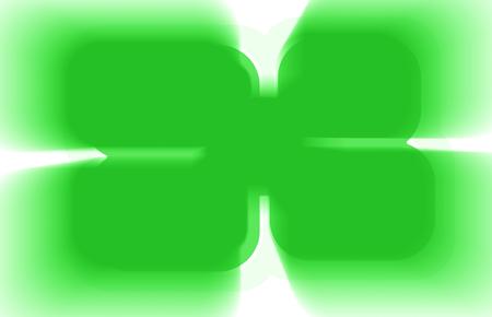 horizontal  green: Horizontal green clover abstract illustration background