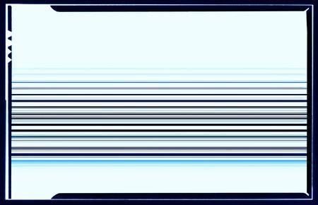 blue film: Horizontal blue film scan lines illustration background