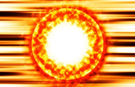 prominence: Burning sun protuberance coronas illustration background Stock Photo
