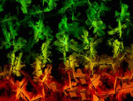 horizontal  green: Horizontal green painted canvas texture background