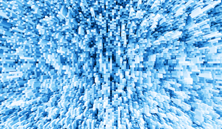 extruded: Blue 3d extruded cubes explosion illustration background