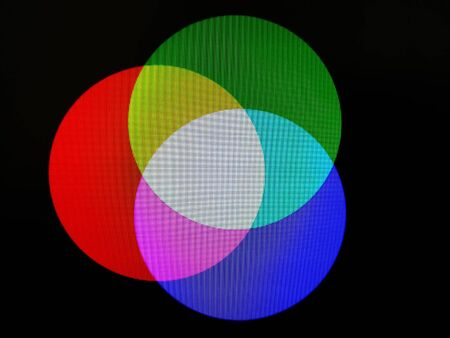 RGB three colored circles illustration background
